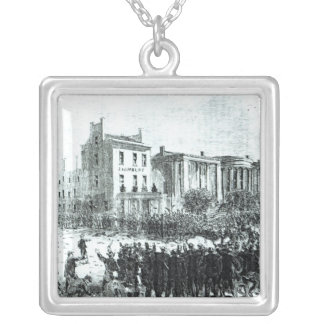 Illustration from 'Harper's Weekly' magazine Square Pendant Necklace