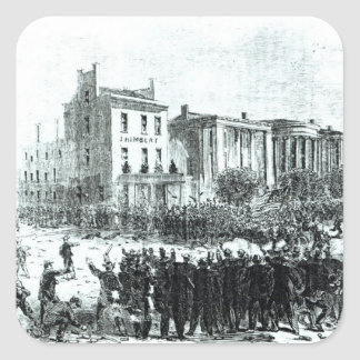 Illustration from 'Harper's Weekly' magazine Square Sticker