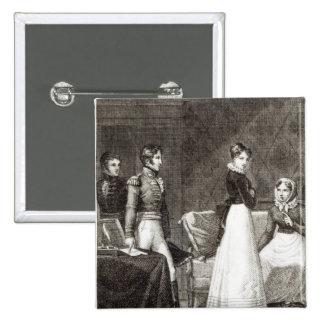 illustration from 'La Famille Elliot' Button
