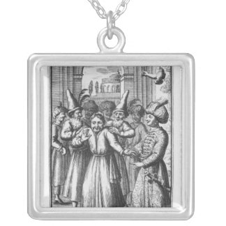 Illustration from 'Le Bourgeois Gentilhomme' Silver Plated Necklace
