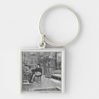 Illustration from 'Le Monde Illustre' Keychain