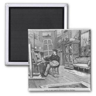 Illustration from 'Le Monde Illustre' Magnet