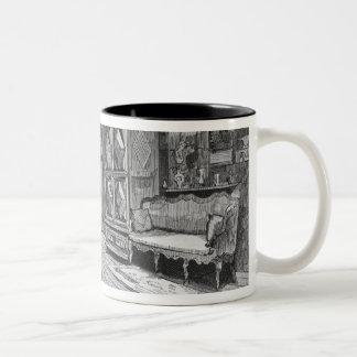 Illustration from 'Le Monde Illustre' Two-Tone Coffee Mug