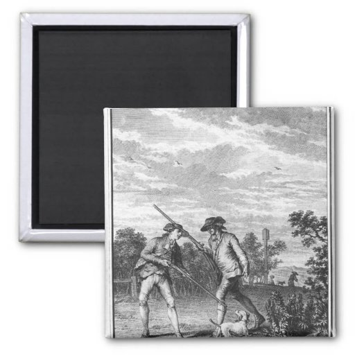 Illustration from 'L'Emile' 2 Inch Square Magnet
