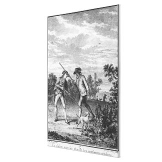 Illustration from 'L'Emile' Canvas Print