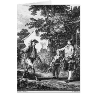 Illustration from 'L'Emile' Card