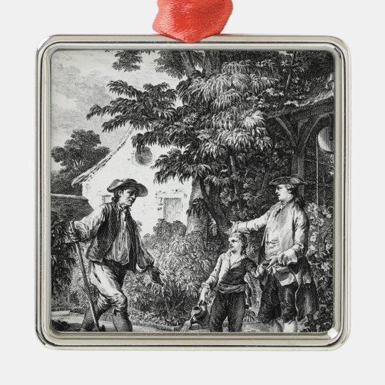 Illustration from 'L'Emile' Metal Ornament