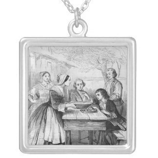 Illustration from 'L'Emile' Silver Plated Necklace