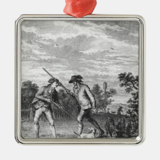 Illustration from 'L'Emile' Square Metal Christmas Ornament