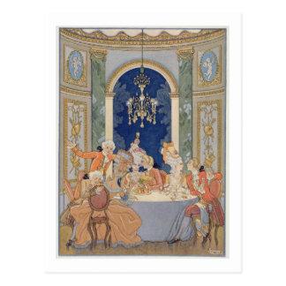 Illustration from 'Les Liaisons Dangereuses' by Pi Postcard