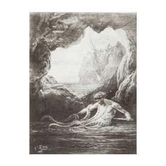 Illustration from 'Les Travailleurs de la Mer' Canvas Prints