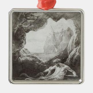 Illustration from 'Les Travailleurs de la Mer' Metal Ornament