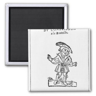 Illustration from 'Pantagruel' 2 Inch Square Magnet