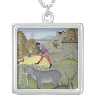 Illustration from the 'Book of Simple Silver Plated Necklace