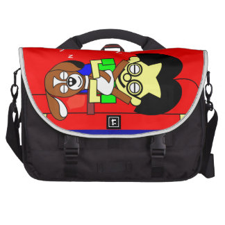 Illustration from the book The Worlds best Beagy Laptop Commuter Bag