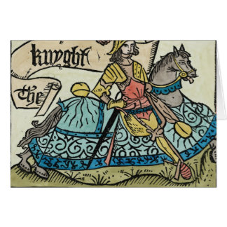 Illustration from 'The Canterbury Tales' Card