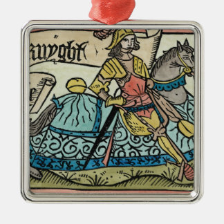 Illustration from 'The Canterbury Tales' Metal Ornament