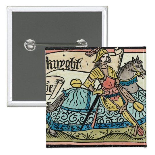 Illustration from 'The Canterbury Tales' Pinback Button