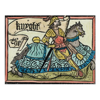 Illustration from 'The Canterbury Tales' Postcard
