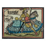 Illustration from 'The Canterbury Tales' Poster