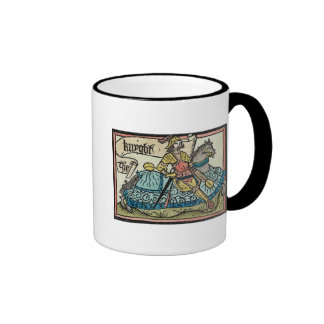 Illustration from 'The Canterbury Tales' Ringer Mug