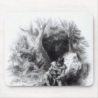 Illustration from 'The Last of the Mohicans' Mouse Pad