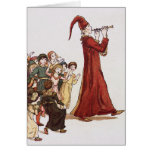 Illustration from The Pied Piper of Hamelin Book Greeting Cards