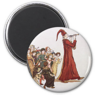 Illustration from The Pied Piper of Hamelin Book Fridge Magnets