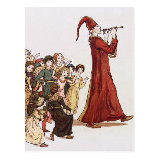 Illustration from The Pied Piper of Hamelin Book Postcard