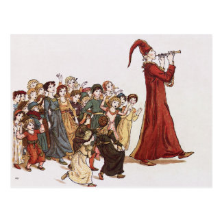 Illustration from The Pied Piper of Hamelin Book Post Cards