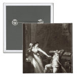 Illustration from 'The Sorrows of Werther' 2 Inch Square Button