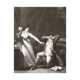 Illustration from 'The Sorrows of Werther' Canvas Print