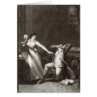 Illustration from 'The Sorrows of Werther' Card