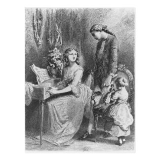 Illustration from 'The Sorrows of Werther' Postcard