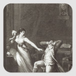 Illustration from 'The Sorrows of Werther' Square Sticker