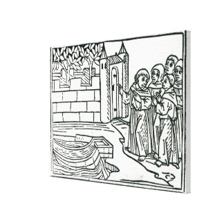 Illustration from 'The Voyage of St. Brendan' Canvas Print