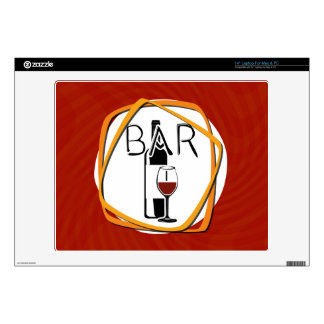 Illustration Glass of Wine in a bar Decal For Laptop