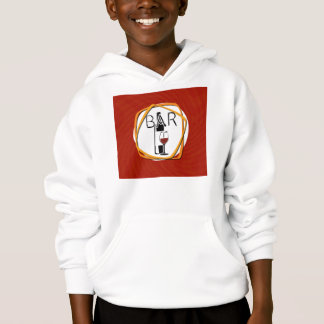 Illustration Glass of Wine in a bar Hoodie