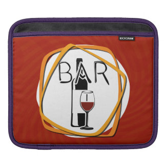 Illustration Glass of Wine in a bar Sleeve For iPads