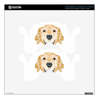 Illustration Golden Retriever Decal For PS3 Controller