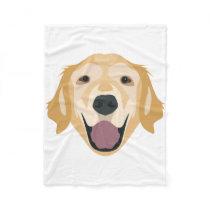 Illustration Golden Retriever Fleece Blanket