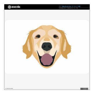 Illustration Golden Retriever MacBook Air Decal