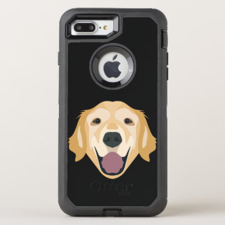 Illustration Golden Retriever OtterBox Defender iPhone 8 Plus/7 Plus Case