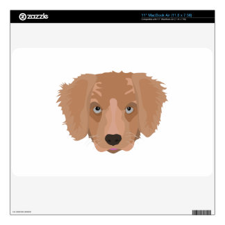 "Illustration Golden Retriever Puppy 11"" MacBook Air Skins"