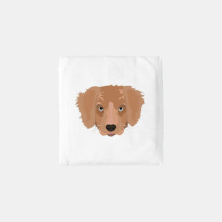 Illustration Golden Retriever Puppy Reusable Bag