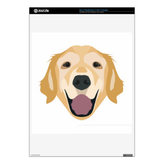 Illustration Golden Retriever Skin For The PS3 Slim