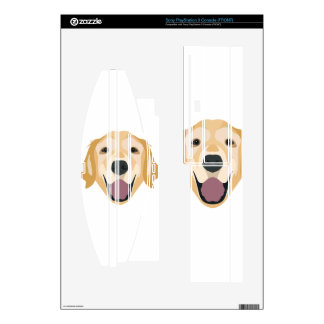 Illustration Golden Retriever Skins For PS3