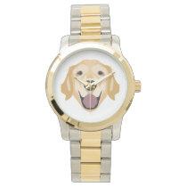 Illustration Golden Retriever Watch