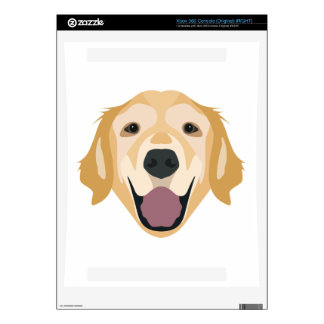 Illustration Golden Retriever Xbox 360 Console Skins