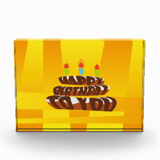 Illustration Happy Birthday Cake with Candles Award